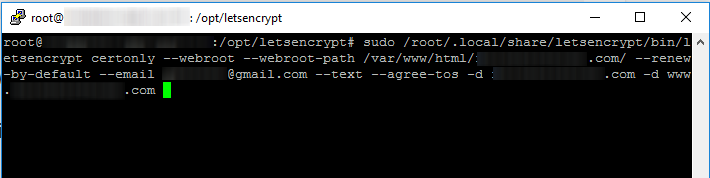 lets encrypt cloud flare ssl command