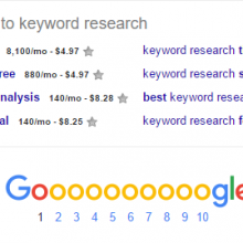 displaying search volumes in google related keywords